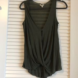 Urban outfitters olive green summer top